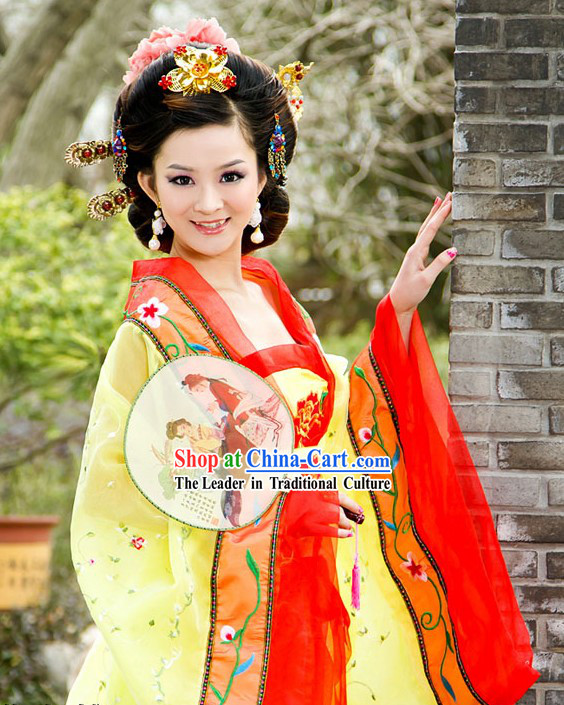 Ancient Chinese Tang Dynasty Palace Lady Costume for Women