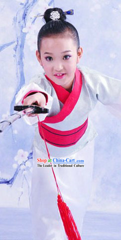 Ancient Chinese Swordsman Costumes for Children