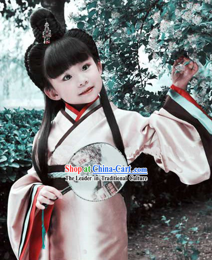 Ancient Chinese Hanfu Clothing for Kids