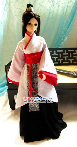 Ancient Chinese White Hanfu Clothes for Men
