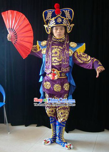 Chinese Mask Change Costumes Hat Boots Masks Complet Set