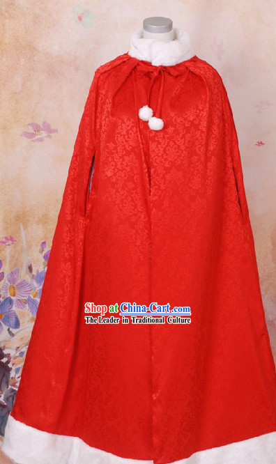 Ancient Chinese Red Princess Cape for Women