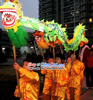 Dragon Dance Costumes for Four Children