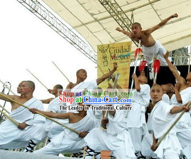 Chinese Shaolin Temple White Kung Fu Clothes for Men