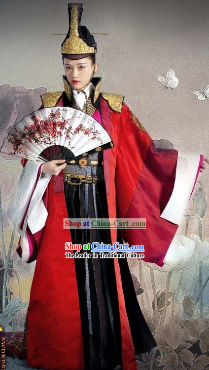Invincible Eastern Dong Fang Bu Bai Costumes and Hat Complete Set