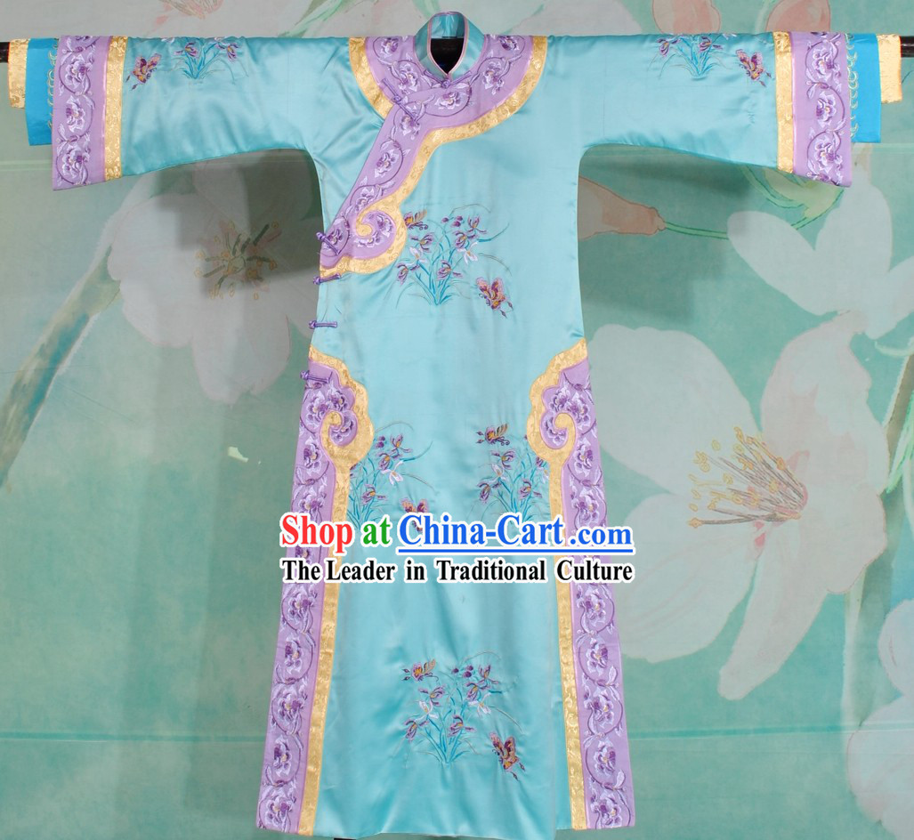 Qing Dynasty Palace Embroidered Princess Clothing for Women