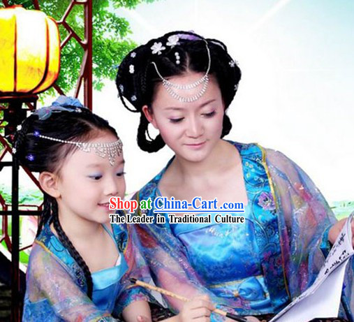 Chinese Hanfu Mother and Daughter Costumes Two Sets