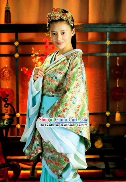 Historic TV Drama Beauty World Han Princess Costumes with Long Tail
