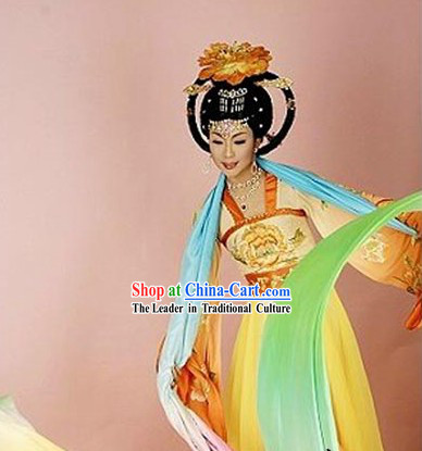 Ancient Chinese Tang Dynasty Ribbon Dance Costume for Women