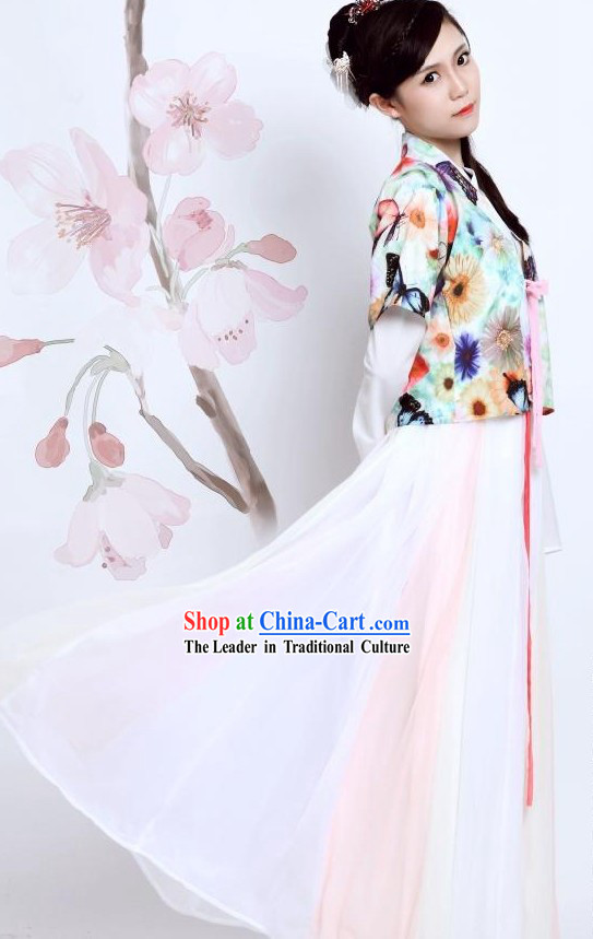 Ancient Chinese Han Dynasty Butterfly Clothes for Women
