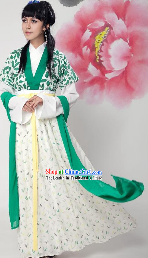 Ancient Chinese Han Dynasty Female Clothing Complete Set for Women