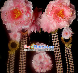 Ancient Chinese Tang Dynasty Princess Handmade Hair Accessories and Earrings