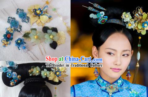 Qing Dynasty Princess Handmade Hair Accessories and Hairpins