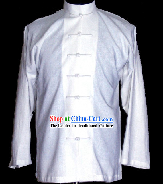 Chinese Classic White Blouse for Men