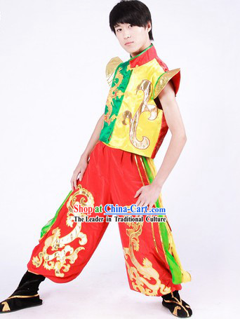 Chinese Classical Dragon Dancer Uniform for Men