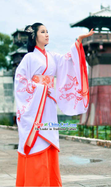 Ancient Chinese Traditional Han Princess Phoenix Clothing for Women