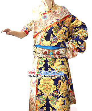 Traditional Chinese Tibetan Robe Complete Set for Women
