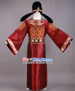 Song Dynasty Government Official Costumes and Hat for Men