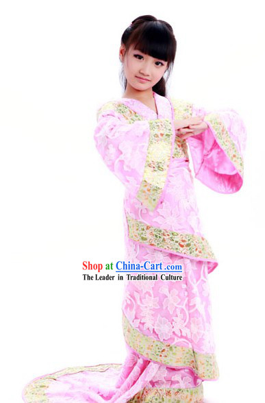 Ancient Chinese Pink Fairy Hanfu Dance Costume for Kids