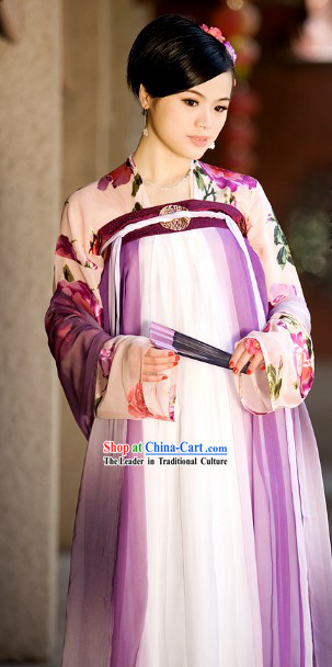 Chinese Classical Tang Dynasty Princess Outfit Complete Set