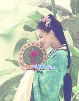 Green Han Dynasty Imperial Palace Beauty Hanfu Outfit for Women