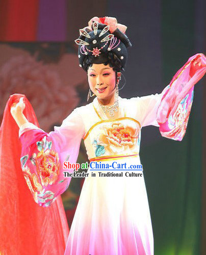 Long Sleeve Embroidered Flower Tang Dynasty Dance Costumes for Women
