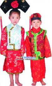 Chinese Princess and Prince Costumes Two Sets for Kids