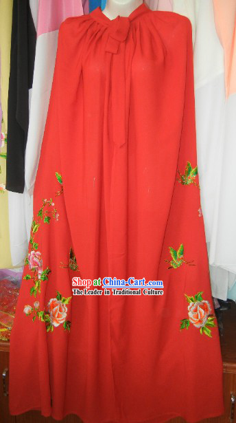 Red Chinese Stage Performance Mantle Clark for Women