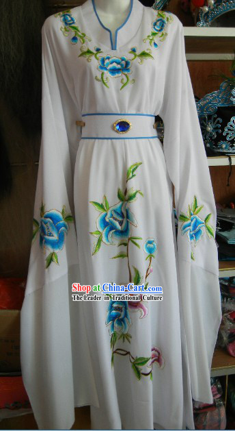 White Chinese Stage Performance Bao Yu Costumes for Men