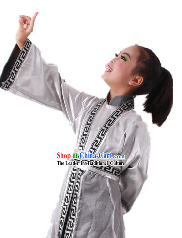 Traditional Chinese Poem Reading Performance Costumes for Kids