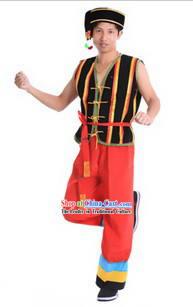 Traditional Chinese Ethnic Minority Costumes and Accessories for Men