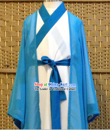 Traditional Chinese Three Kingdoms Zhuge Liang Costumes and Hat Complete Set for Kids or Men