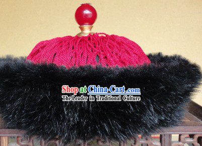 Ancient Chinese Qing Dynasty Prince Hat for Men