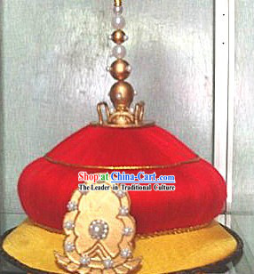 Ancient Chinese Chiarnlurng Qian Long Emperor Hat for Men