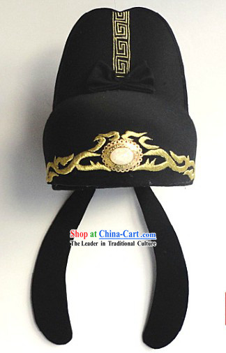 Ancient Chinese Tang Dynasty Di Renjie Film Official Hat for Men
