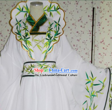 Ancient Chinese Legend Guanyin Clothes Complete Set for Women