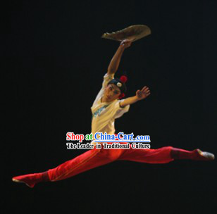 Chinese Classical Dance Costumes and Hair Accessories for Men
