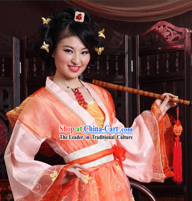 Song Dynasty Imperial Palace Female Maid Costumes Complete Set for Women