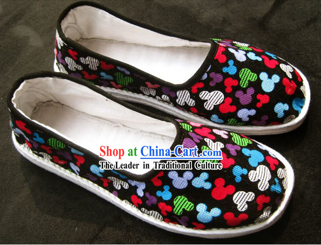 All Handmade Chinese Thick Sole Cotton Shoes