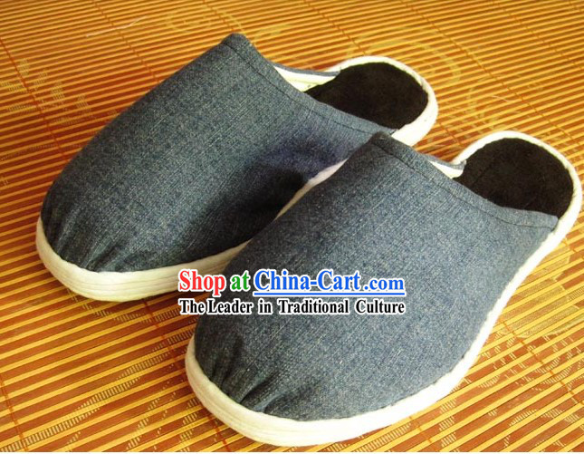 Old China Time All Handmade Chinese Thick Sole Cotton Slippers
