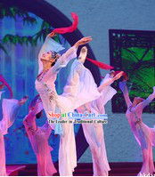 Traditional Chinese Ribbon Dance Costumes Complete Set for Women
