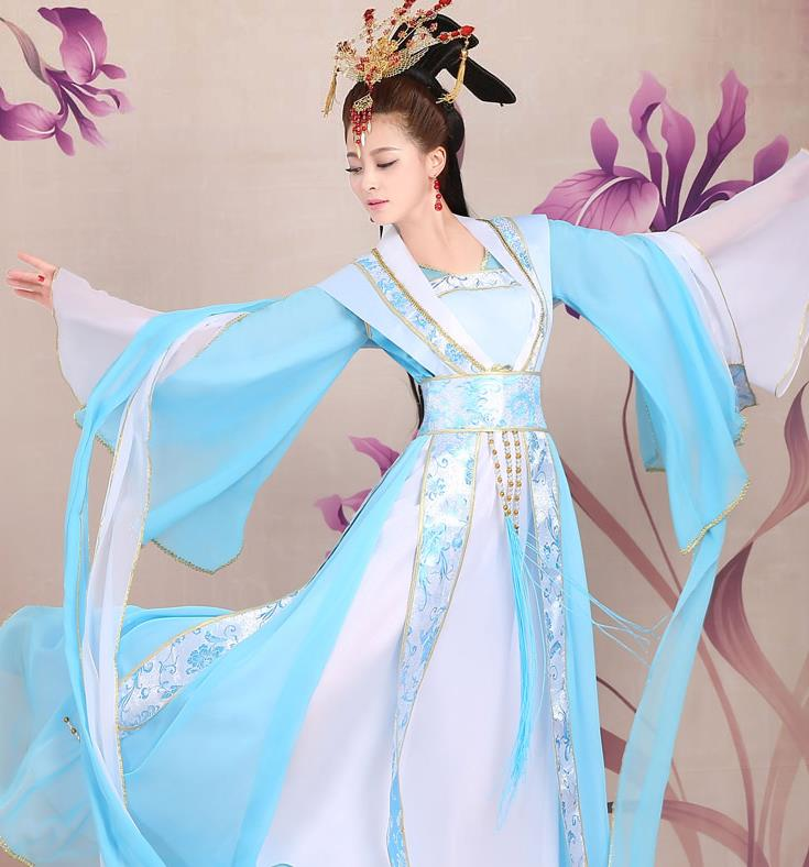 Ancient Chinese Imperial Palace Princess Costumes and Hair Accessories Complete Set for Women