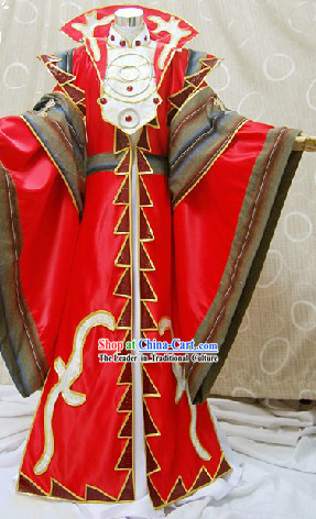 Ancient Chinese School Schoolmaster Cosplay Costume Complete Set for Men