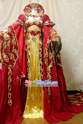 Ancient Chinese Imperial Palace Empress Cosplay Clothing Complete Set
