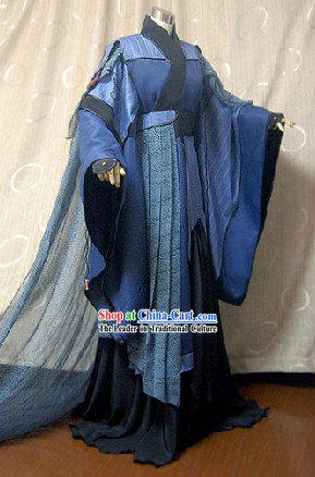Ancient Chinese Swordman Cosplay Clothing Complete Set