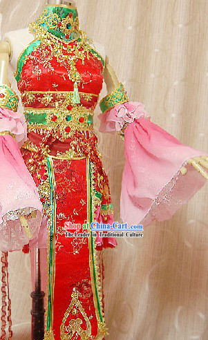 Ancient Chinese Swordwoman Cosplay Costumes Complete Set