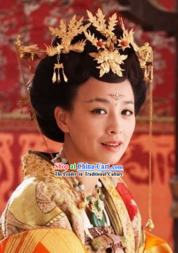 Ancient Chinese Imperial Palace Royal Wu Zetian Female Emperor Phoenix Hair Accessories Complete Set