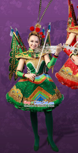 Stage Performance Musician Peking Opera Style Dance Costumes and Hair Accessories for Women
