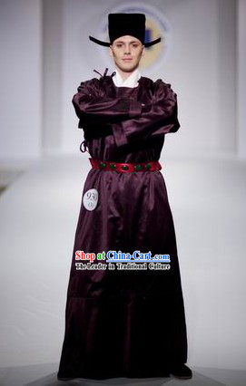 Ancient Chinese Tang Dynasty Male Clothes Complete Set