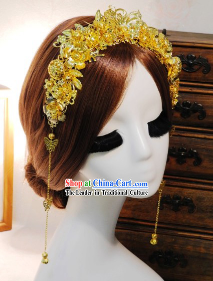 Golden Traditional Chinese Bridal Hair Accessories
